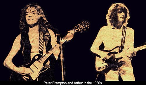 Peter Frampton and Arthur Stead in the 1980s